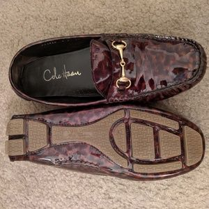 Cole Haan Leopard loafers